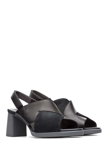 Camper Kalın Topuklu Sandalet Siyah